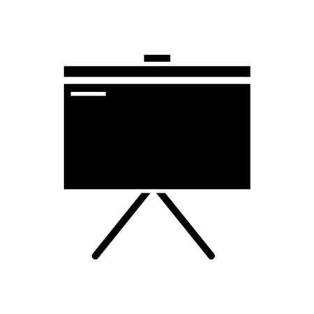 Whiteboard glyph icon vector on white Illusztráció