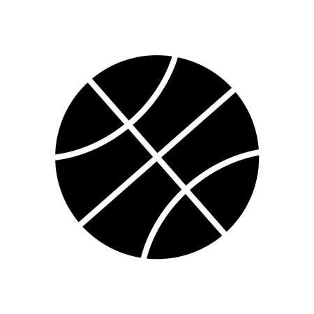 Ball glyph icon vector isolated on white Illusztráció