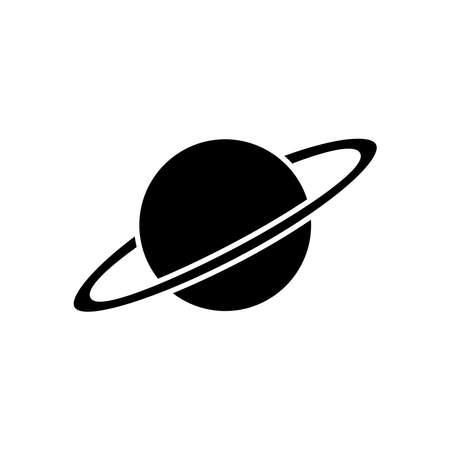 Planet glyph icon. Education symbol. simple design editable. design vector illustration