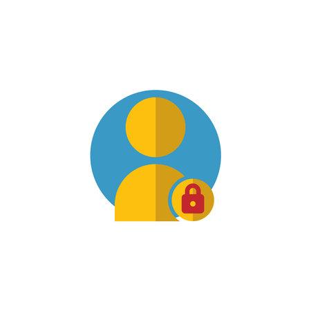 User lock flat icon. Editable stroke. Simple illustration mobile concept and web design. Design template vector Ilustracja
