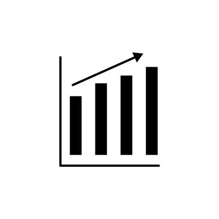 Graph goes up icon. Up growing business symbol. Internet concept symbol for website button, mobile app or digital printing. simple design editable. Design template vector