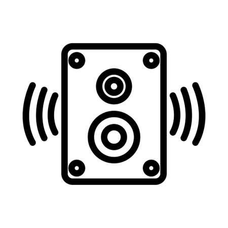 Speaker, Music System, Audio Box, Sound System line icon. simple illustration. Editable stroke. Design template vector