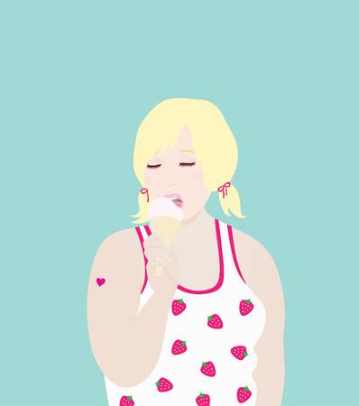 plump lips: Sweet Ice Cream Love
