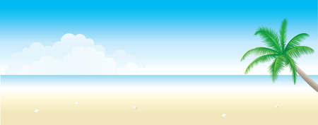 Exotic Beach Background Vector