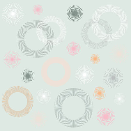 Retro Circular Pattern Background