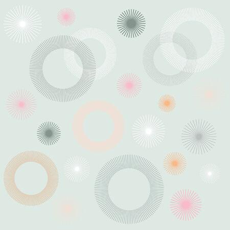 Retro Circular Pattern Background
