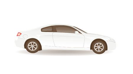 White Car 向量圖像