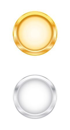 website buttons: Gold & Silver Objects