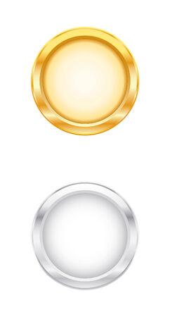 brushed aluminum: Objetos de Oro & Plata  Vectores