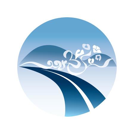 communication icons: Circular logo