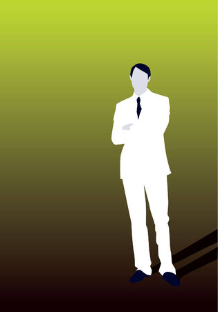 Young Business Man Standing Confidently