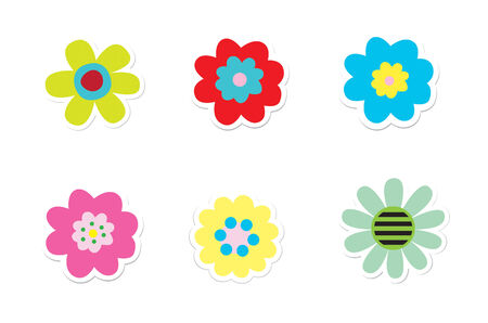 Bloem Stickers Stock Illustratie
