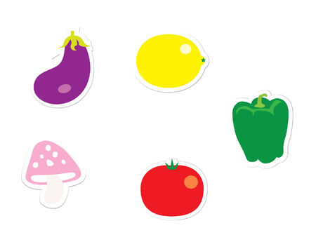 Veggie  Stickers Illustration