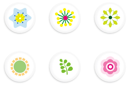Flower Buttons Illustration