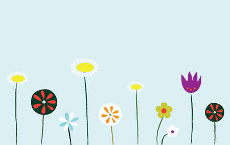 Wild Flowers Ilustração