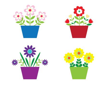 Flores en potes