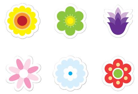 Flower Stickers Vector