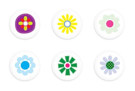 Flower buttons Stock Vector - 5820320