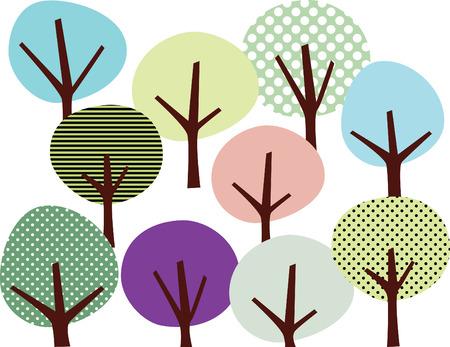 Tree wallpaper Stock Vector - 5820257