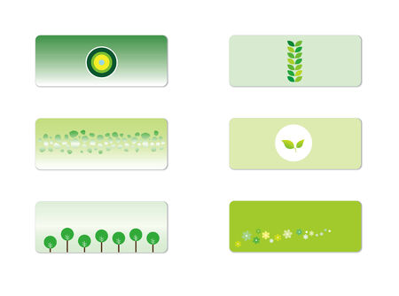 Small Green Banners Illustration