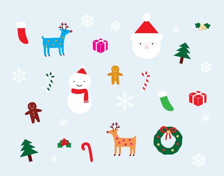 Kerst mis decoratie instellen Stock Illustratie