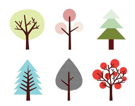 Ensemble d'arbres Banque d'images - 5820263