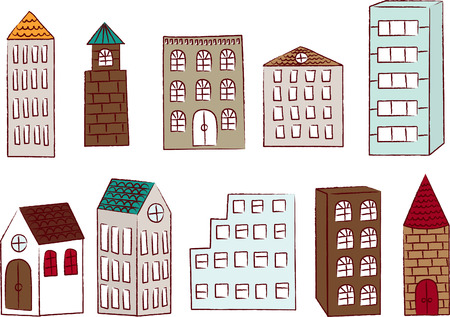 Buildings Set 向量圖像