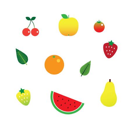 Fruit Set Иллюстрация