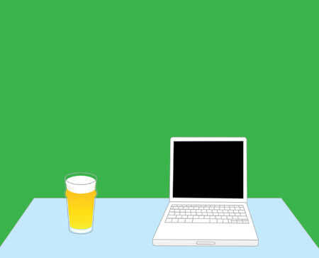 Laptop and beer