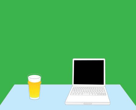 Laptop en bier