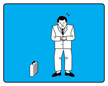 Businessman Embarrassed At Work