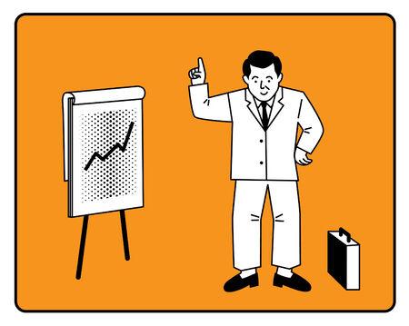 Businessman Chart Presentation