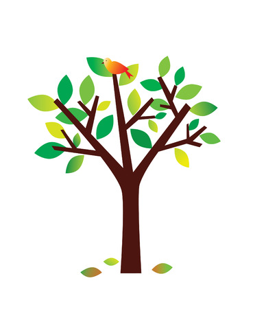 Red Bird, Green Tree
