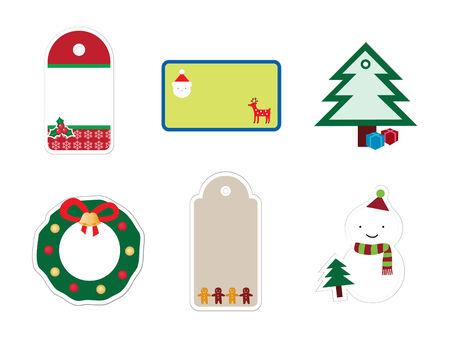 Kerst mis stickers