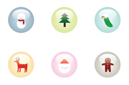Christmas Glossy Buttons