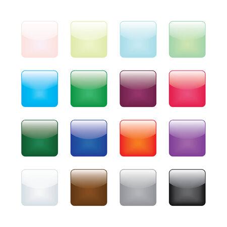 Round Corner Glossy Buttons Illustration