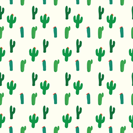 mexico cactus: Cactus seamless pattern vector background
