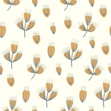 dry flower: Dry flower seamless pattern vector background