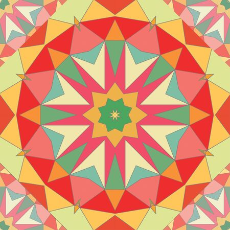 tile pattern: Kaleidoscope colorful seamless tile pattern background vector