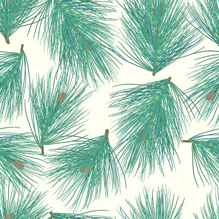 pinetree: Seamless pine-tree vector background pattern
