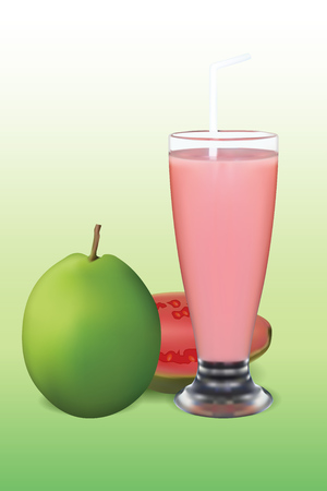 Realistic Guava and Fresh Juice