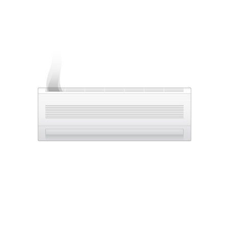 Broken air conditioner isolated on white background. Vector illustration  イラスト・ベクター素材