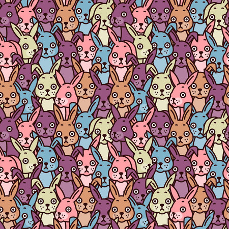 Hare pattern. Vector illustration.
