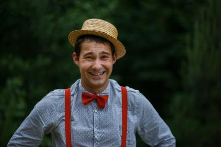 chapeau de paille: L'homme dans un chapeau de paille