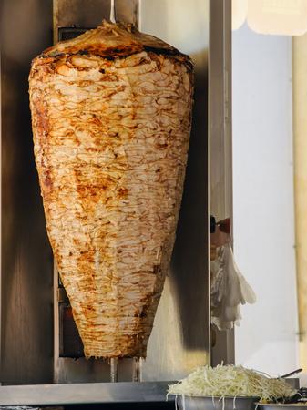 Doner Kebab On Rotating Vertical Spit in the east
