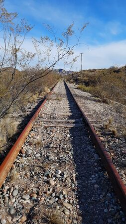 old train track abandoned years ago Banco de Imagens