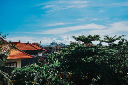 ubud: View from a rooftop in Ubud, Bali