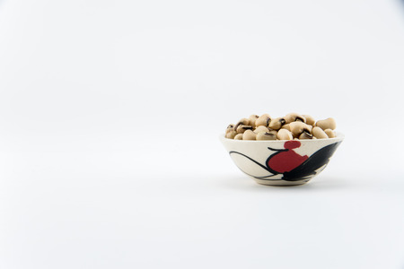 Close up white beans on any object in isolate background