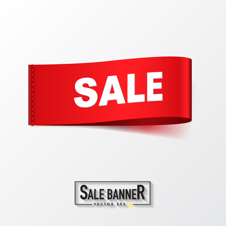 Sale ribbon and clothing label design,vector illustration.