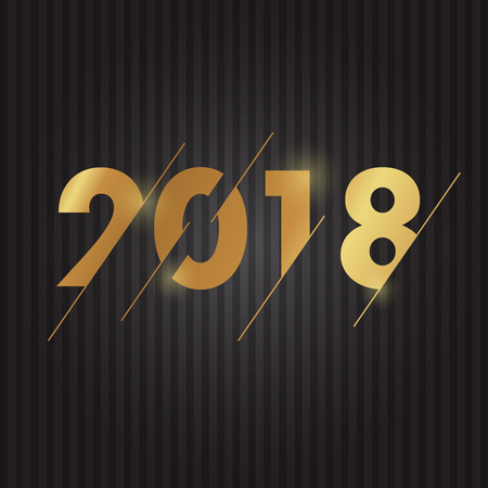 2018 Happy New Year vector text typography for you greeting card and flyer or Christmas theme invitation